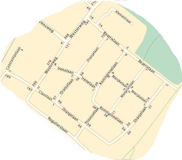 plattegrond Oranjepark - kaartv1
